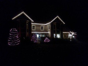 Christmas light installation in Schenectady, NY
